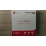Óculos 3d Originais Lg 4 Peças Ag-f310