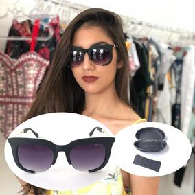 Oculos Grande Retro Preto Quadrado De Sol - Óculos De Sol no Mercado ... a55a91bf3b