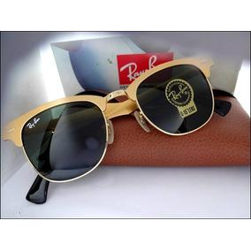 d96414091f41b Ray Ban Clubmaster Aluminium Espelhado Dourado De Sol - Óculos no ...