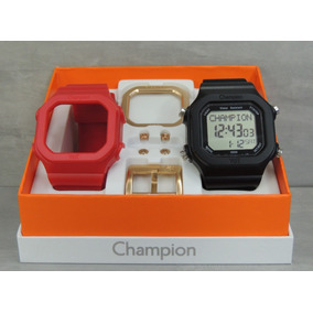 b2bda40c113 Pulseira Preta Champion Yot - Relógios no Mercado Livre Brasil