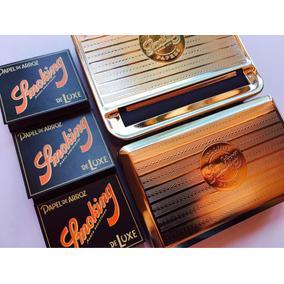 Tabaquera Cigarrera + Máquina Automática Smoking En Metal 78