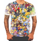Camiseta Camisa Personalizada Simpsons Bart Homer Desenho 24