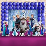 Festa Aniversário Frozen Decoração Cenário Kit Ouro
