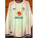 Camisa Irlanda 2002 Robbie Keane  10 Mangas Longas Rara cefca34c4f727