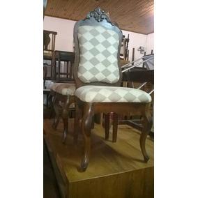Jogo De Cadeiras Antigas Com Estofado Cadeira Estofada