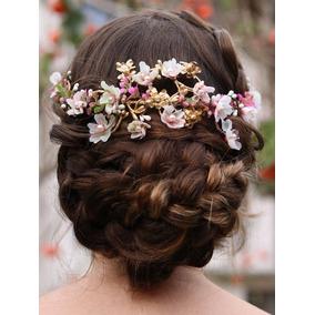Acessório Cabelo De Noivas Arranjo Pré-wedding Aconchego e43abc5f030