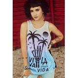 Camisetas Regatas Longas Femininas Academia no Mercado Livre Brasil 4e78f2cc479
