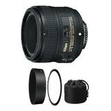 Lente Objetivo Nikon 50mm 1.8 G Af-s + Parasol + Estuche