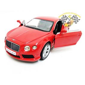 Miniatura Bentley Continental Gt V8 Vermelho 1:32 Rmz