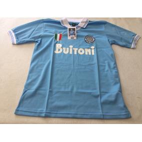 Camiseta Napoli Maradona 87 88. Unica Toda Cosida A Mano!! 8. 91 vendidos -  Capital Federal · Camiseta Retro Del Napoli Maradona Con El 10 434e6c79f2b8d