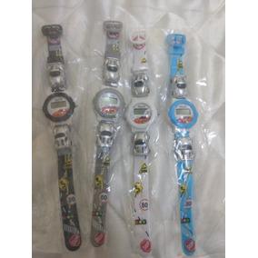 Mini Relógio Infantil P/meninos/a Prova D`água/novo/kit C/4
