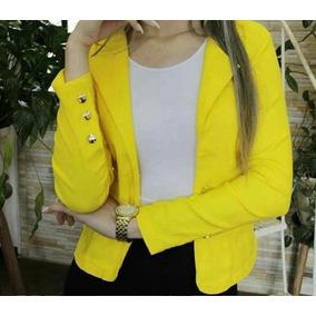 b5fbb7be13 Blazer Amarelo Zara - Blazer para Feminino no Mercado Livre Brasil