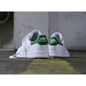 Msitenis adidas Stan Smith - Bco/vd- Piel Talla#3 Al #5.5 Mx