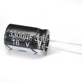Capacitor Eletrolitico 3300 Uf X 16v - 105º - Lote De 20 Pçs