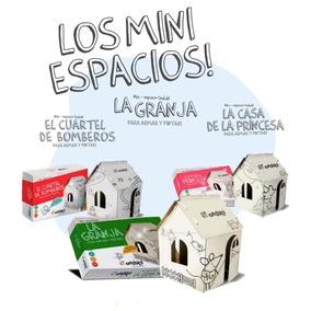 Casa Princesa Castillo Pirata Granja Carton Pintar Souvenir