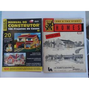 2 Revistas Com 350 Plantas E Projetos De Construção De Casas