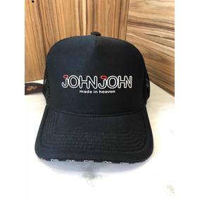 57a6fd3b04fab Bone John John Tela - Bonés para Masculino no Mercado Livre Brasil