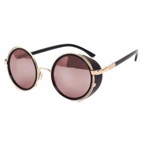 Óculos De Sol Redondo Feminino Masculino Steampunk Vintage · 4 cores. R  75 04555b5969