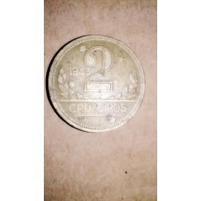 Moedas De 2 Cruzeiros,antigas Ano 1943 A 1946
