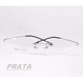 74862764c6aaa Armação Para Oculos De Grau Metal Prata Com Aro Frete Gratis ...
