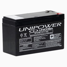 Bateria Unipower 12v 7ah P/ No-break Up1270e C/ Nota