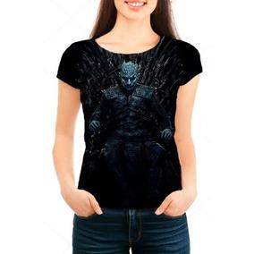 Camiseta Babylook Game Of Thrones 8ª Temporada Rei Da Noite