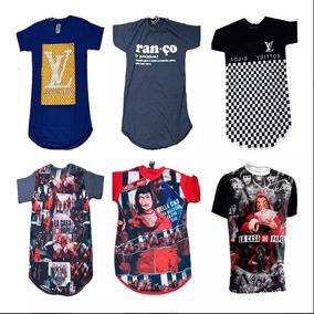 Kit 10 Camiseta Masculino Oversized Camisa Longline Atacado 2faf30fb546