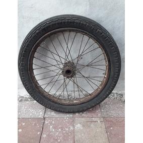 Antigua Rueda Moto Rodado 19 / 3.50