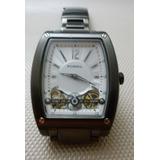 84dc3675449 Relógio Fossil Cinza Anodizado Unisex Semi Novo Retangular