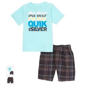 Conjunto Camiseta E Bermuda Quiksilver 3t- Bebê-infantil 6bcb20263f