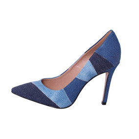 90c927fbc Sapato Em Tecido Jeans Salto Alto - Sapatos no Mercado Livre Brasil