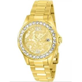 Relógio Invicta Ed. Ltda. 22870 Feminino Banho Ouro 18k