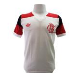 Camisa Retrô Flamengo 1980-1983 Mundial Branca