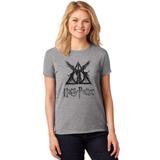 Camiseta Feminina T-shirt Harry Potter Relíquias Da Morte