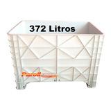 Caixa Plastica Branca 372 Litros Fechada Com Tampa - Cx1030