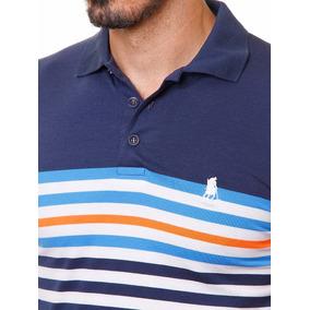33efda0b97 Camiseta Polo Club Azul Marinho Com Branco Tam P Camisa