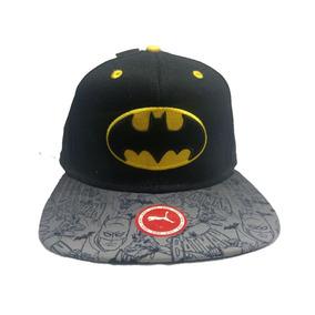 Bone Preto Aba Reta Batman Preto