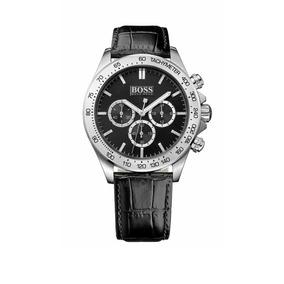 e6c85e76d46 Relógio Hugo Boss Masculino Couro Preto 1513330 - Relógios no ...