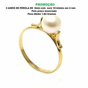 94af215012e37 Anel De Ouro 18 Kilates Com Pérola - Joias e Relógios no Mercado ...