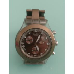 4e64ed6e9a3 Relógio Swatch Diaphane Chocolate Irony Full Blooded Earth