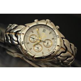 5193609a0f4 Bulova Cronografo Aço E Ouro - Marine Star - Lindo