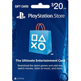 Psn Gift Card [20u$d] [cuenta Usa]