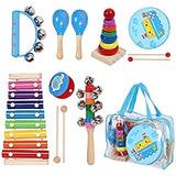 Set De Instrumentos Musicales Para Niños Pequeños, 12 Piezas