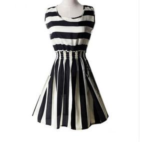 Vestido Corto De Doble Linea Negro Elegante Envio Gratis