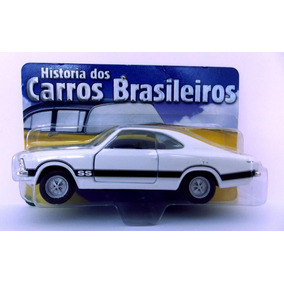 Miniatura Chevrolet Opala Ss 1975 Branco Metal Escala 1:43