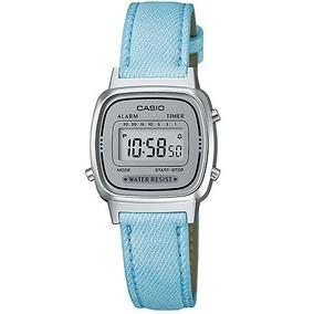 e79ffdeb0be Relógio Casio Vintage Feminino Digital Jeans La-670wl-2adf