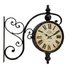 333c2e664a7 Relógio Decorativo Parede Estação De Trem Dupla Face (13497)