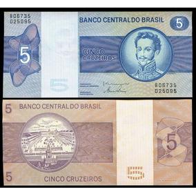 Cédula Brasil 5,00 Cruzeiro 1979 C136 Flor De Estampa L177