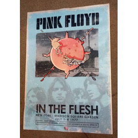 Poster Pink Floid In The Flesh New York 1977 35x50 Cm