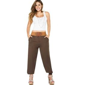 Koketo Pantalon De Mujer Playero Color Cafe 116086